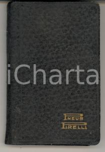 1929 GOMME PIRELLI Agenda tascabile giornaliera 6x10 cm