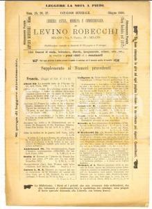 1890 MILANO Catalogo Libreria Levino ROBECCHI n° 25 26 27 Libri francesi