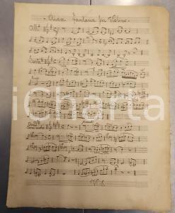 1900 ca Jean-Baptiste SINGELEE Aida - Fantasia per violino *Spartito manoscritto