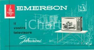 1965 ca EMERSON TELEVISION ISTRUZIONI Modello BELFAST 23 pollici ILLUSTRATO