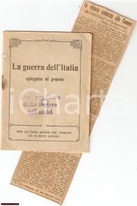 1916 WW1 MILANO Guerra dell'Italia spiegata al Popolo