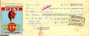 1946 PINI FIRENZE Vermutte alla crema CAMBIALE