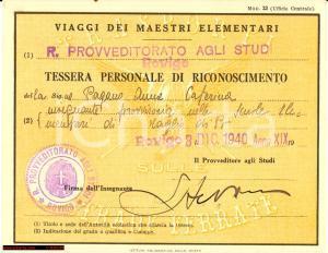 1940 FERROVIE DELLO STATO Viaggi maestri elementar