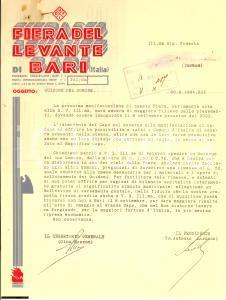 1934 Fiera del Levante di Bari + Bolettino