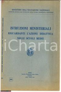 1930 Azione didattica nelle scuole medie