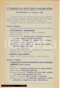 1940 Congresso Società Tedesca Medicina Interna