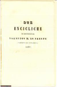 1849 Encicliche Domenico Lo Jacono, Girgenti (AG)