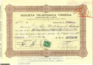 1934 GREVE IN CHIANTI (FI) Michelangelo CALAMAI Società Telefonica TIRRENA