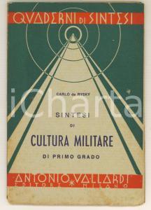 1940 Carlo de Rysky - Cultura Militare di I Grado