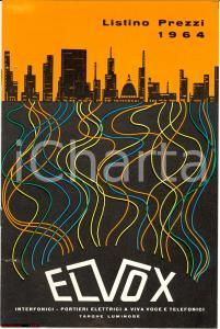1964 ELVOX Padova listino ottima grafica copertina