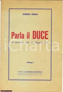 1941 Parla il Duce *Il discorso del 10 giugno 1941