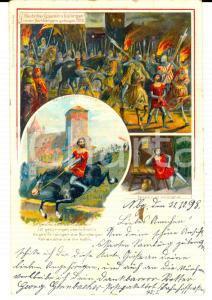 1898 Raubritter Eppelein von GAILINGEN *VINTAGE ILLUSTRATED postcard FP VG