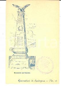 1900 ca GRANATIERI DI SARDEGNA - Monumento sull'ASSIETTA Cartolina 2° Reggimento