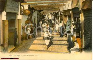 1910 Tunisi - Souk-El-Grana Tunis *Animata NV