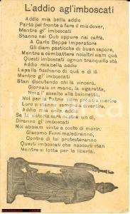 1917 WWI L'addio agli'imboscati *Poesia propaganda