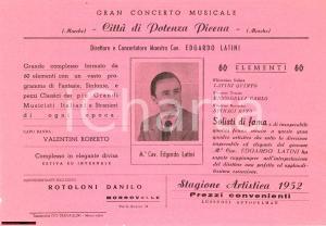 1952 POTENZA PICENA Concerto di Edgardo Latini