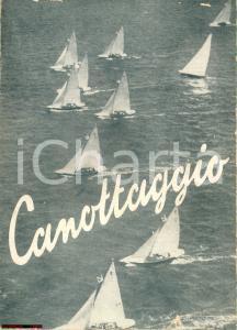 1940 circa Mario ERBA Canottaggio a vela ill. FORNELLI