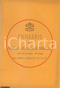 1938 Roma, Istituto Pontificio Sant'Apollinare ANNUARIO