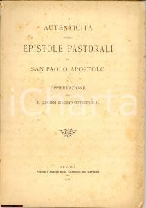 1911 Epistole di San Paolo, Giovanni G. Cereseto
