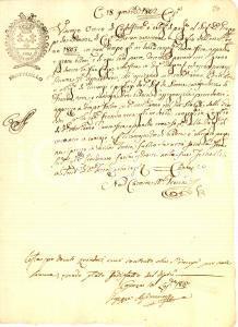 1802 CASTROLIBERO (CS) vendita seta e grano
