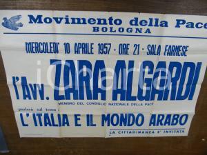 1957 BOLOGNA confer. Zara Algardi MOVIMENTO DELLA PACE