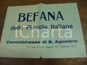 1930 ca. ROMA Befana fascista CANONICHESSE S. AGOSTINO
