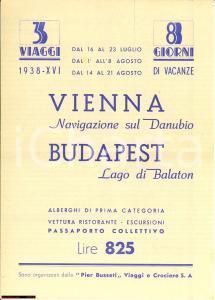 1938 MILANO Agenzia PIER BUSSETI Navigazione Danubio