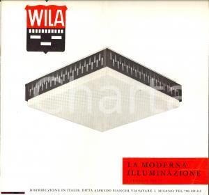 1960 ca MILANO Ditta WILA La moderna illuminazione - Catalogo n° 21 ILLUSTRATO