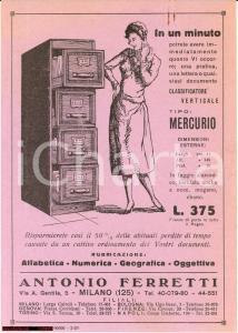 1933 CLASSIFICATORE VERTICALE MERCURIO volantino