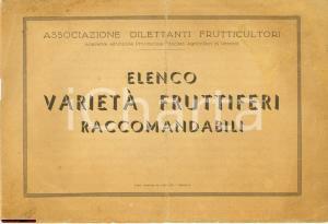 1930 ca VERCELLI Associazione Dilettanti Frutticoltori - Varietà fruttiferi