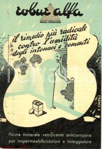 1951 MILANO Pittura minerale ROBUR ALFA - Ditta ITALVIS *Opuscolo ill. TONELLI