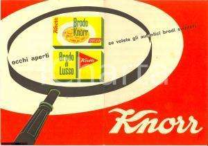 1950 DADI KNORR pieghevole pubblicitario