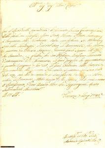 1746 Invio disertori a Portoferraio - manoscritto