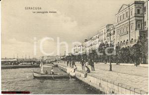 1908 Siracusa - Passeggiata Aretusa *Animata