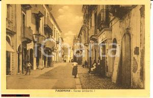 Taormina anni '20, C.so Umberto I *d'epoca Animata
