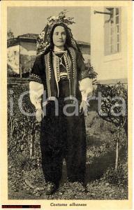 1925 Costume Albanese Albania - FP - NV
