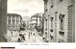 Catania *Strada Atenea anni '20 - Veduta animata