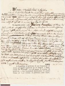 1833 RAPOLANO SI Affitti dovuti al nobile Mario RAGNONI
