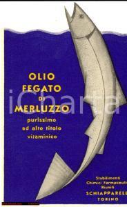 1950 circa TORINO Olio fegato di merluzzo SCHIAPPARELLI