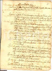 1624 RIETI Eredità Bonifacio STOLA al figlio manuscript