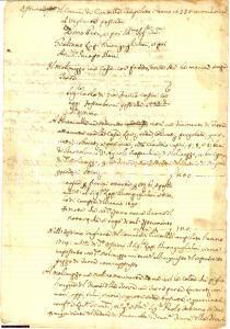 1633 CIVITELLA Molinuzzo di Giuliano LAPI BUONGUGLIELMI