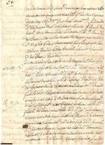 1663 FIRENZE Nobili RICCIARDETTI saldano debiti PECORI