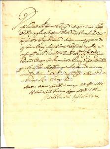 1667 BAGNORO (AR) Francesco BACCI rettore S. EUGENIA