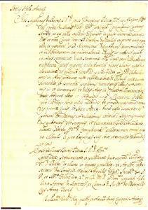 1646 AREZZO Girolamo CARBONATI condannato in una causa