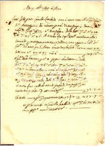 1633 AREZZO Camillo LAMBARDI pegni Monte Pio manuscript