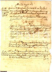 1659 CIVITELLA (AR) Contadino debitore grano e fagioli
