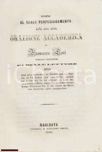 1858 SAN SEVERINO MARCHE MC Francesco LORI sulla virtù