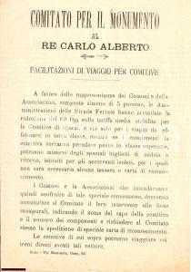 1900 ROMA Viaggio ferroviario Monumento CARLO ALBERTO