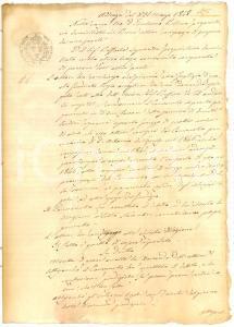 1848 PENNE (AQ) Condanna a Raffaele LAGUARDIA per olio