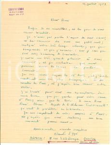 1953 PARIS Claude D'YGE consiglia René ALLEAU Autograph